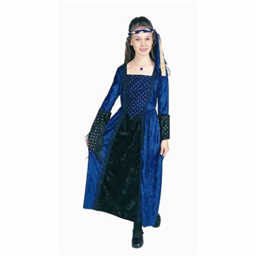 RG Costumes 91163-L Renaissance Girl Blue Costume - Size Child-Large Perspective: front