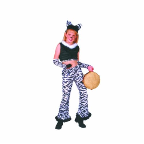 RG Costumes 91190-L Rock Star Zebra Costume - Size Child-Large Perspective: front