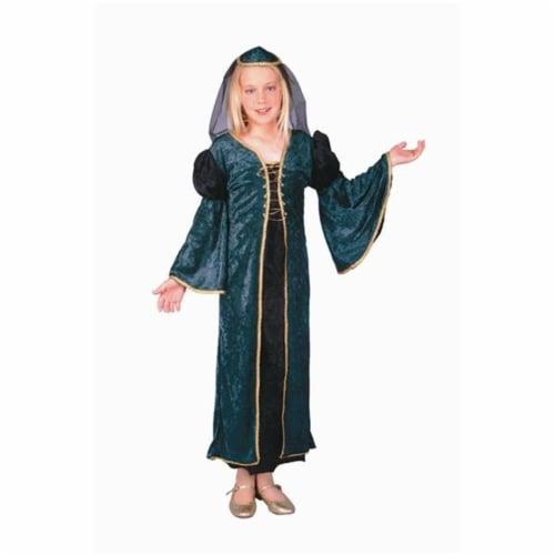 RG Costumes 91223-L Green Velvet Juliet Costume - Size Child-Large Perspective: front