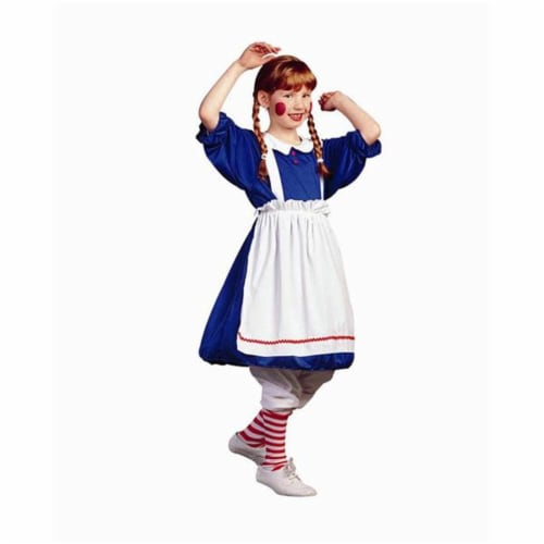 RG Costumes 91229-L Deluxe Rag Doll Costume - Size Child-Large Perspective: front