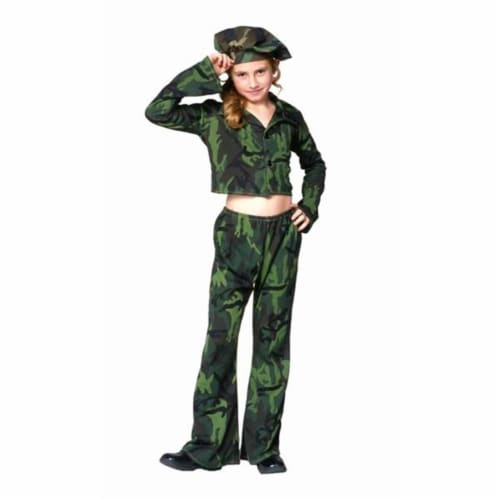 RG Costumes 91266-L Soldier Girl Costume - Size Child-Large Perspective: front