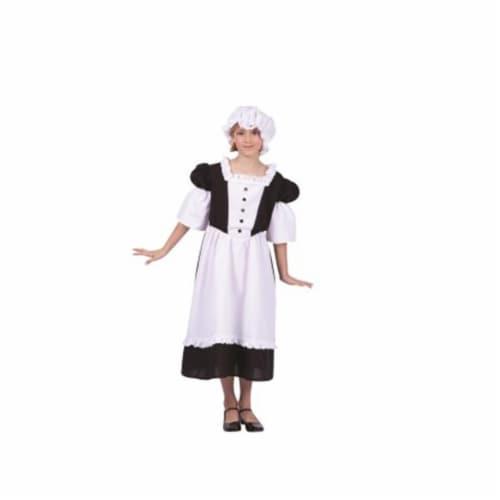 RG Costumes 91268-L Pilgrim Peasant Girl Child Costume, Large - Black & White Perspective: front