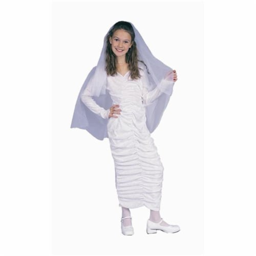 RG Costumes 91298-L White Gothic Dress With Hood Costume - Size Child-Large Perspective: front