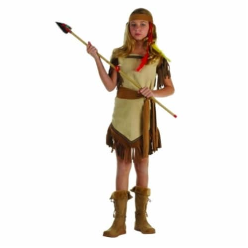 RG Costumes 91342-L Native American Girl Suede Costume - Size Child Large 12-14 Perspective: front