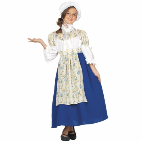 RG Costumes 91362-L Large Child Colonial Girl Custume Perspective: front