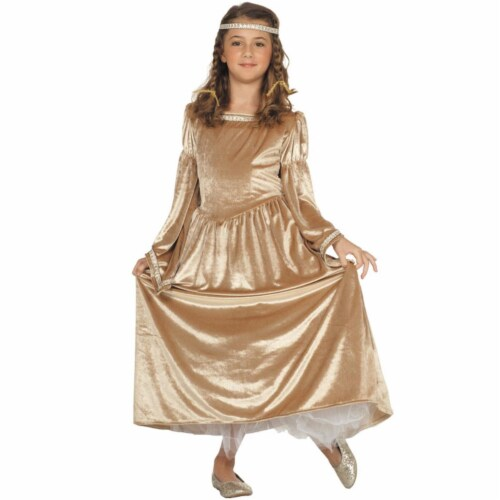 RG Costumes 91384-L Large Child Renaissance Bell Custume - Gold Perspective: front