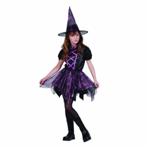 RG Costumes 91416-L Glitter Spider Witch Costume - Size Child Large 12-14 Perspective: front