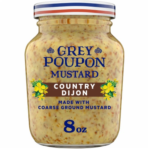 Grey Poupon Country Dijon Mustard Perspective: front