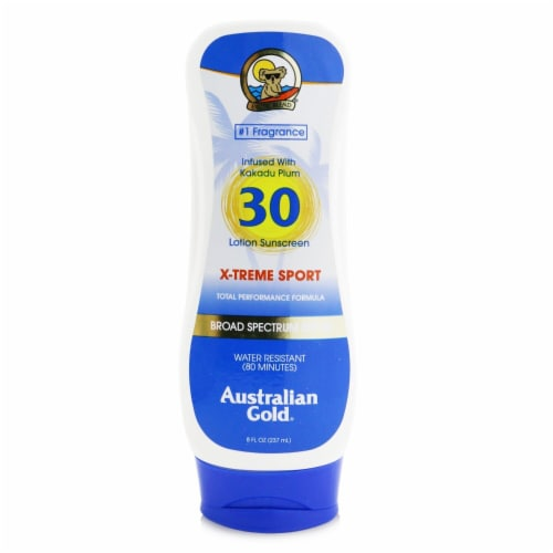 Australian Gold XTreme Sport Lotion SPF 30 (Exp. Date: 05/2021) 237ml/8oz Perspective: front