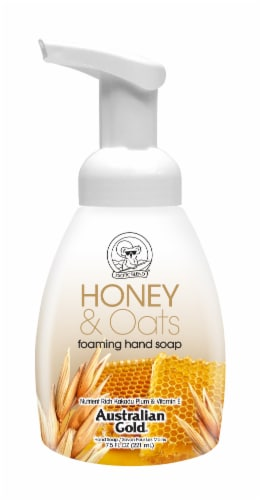 Australian Gold Honey & Oats Foaming Hand Soap Perspective: front