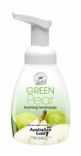 Australian Gold Exotic Blend Green Pear Foam Hand Soap Perspective: front