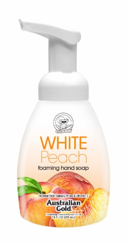 Australian Gold White Peach Foaming Hand Soap Perspective: front