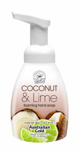 Australian Gold Coconut Lime Foaming Hand Soap Perspective: front