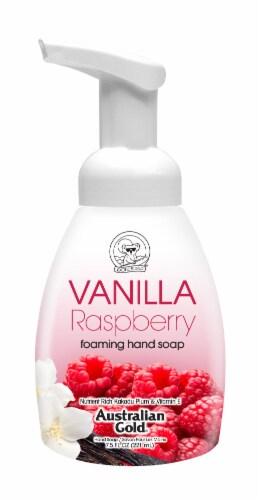 Australian Gold Foam Hand Soap Vanilla Raspberry Perspective: front