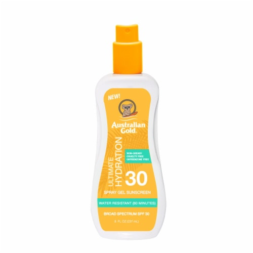 Australian Gold Ultimate Hydration Spray Gel Sunscreen SPF 30 Perspective: front