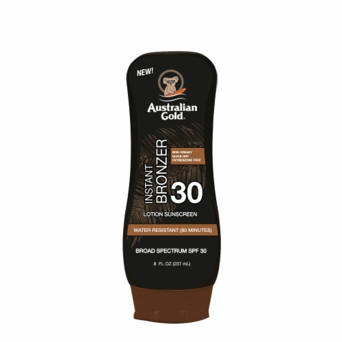 Australian Gold Instant Bronzer Lotion Sunscreen SPF 30 Perspective: front