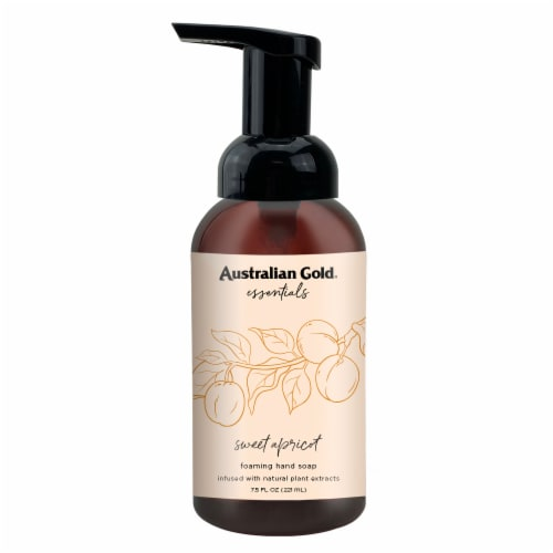 Australian Gold Essentials Foam Hand Soap Sweet Apricot Perspective: front