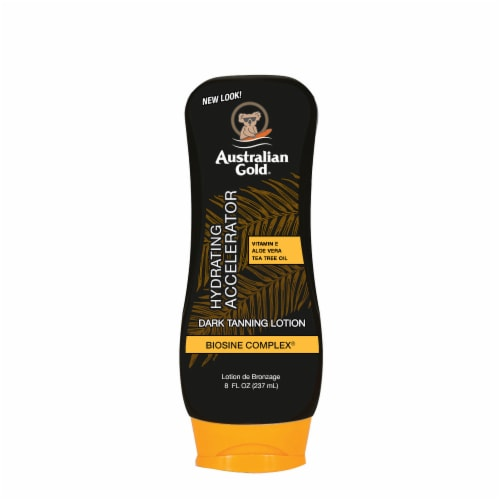 Australian Gold Hydrating Accelerator Dark Tanning Lotion Perspective: front
