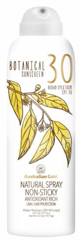 Australian Gold Non-Sticky Natural Spray Botanical Sunscreen SPF 30 Perspective: front