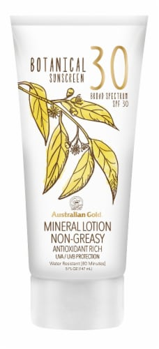 Australian Gold Botanical Sunscreen Mineral Lotion SPF 30 Perspective: front