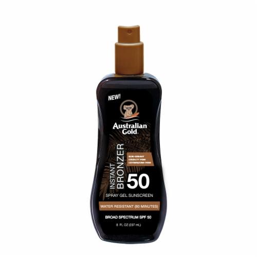 Australian Gold Instant Bronzer Spray Gel Sunscreen SPF 50 Perspective: front