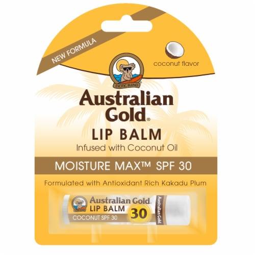 Australian Gold Moisture Max Coconut Flavor Lip Balm SPF 30 Perspective: front