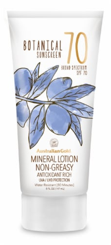 Australian Gold Botanical Sunscreen Mineral Lotion SPF 70 Perspective: front
