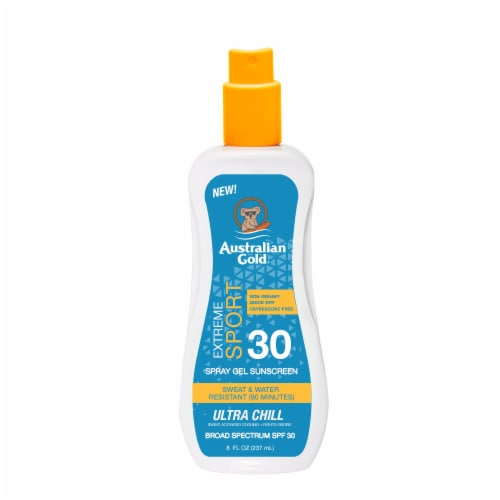 Australian Gold Extreme Sport Ultra Chill Spray Gel Sunscreen SPF 30 Perspective: front