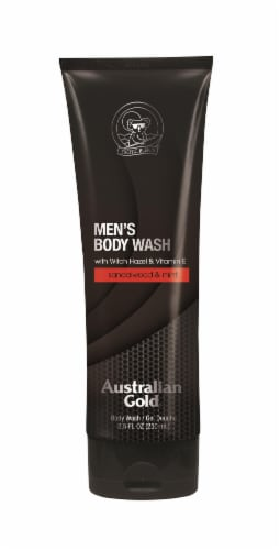 Australian Gold Sandlwood & Mint Men's Body Wash Perspective: front
