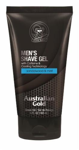 Australian Gold Sandalwood and Mint Men's Shave Gel Perspective: front