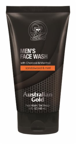 Australian Gold Sandalwood and Mint Men's Face Wash Perspective: front