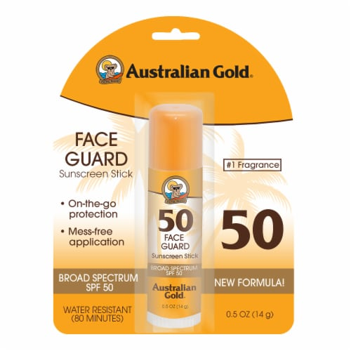Australian Gold Face Guard Sunscreen Stick SPF 50 Perspective: front