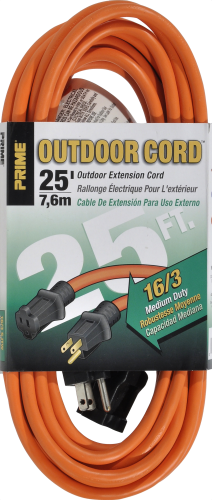 Prime Outdoor Extension Cord - Orange Perspective: front