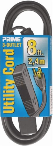 Prime 3-Outlet Shop and Utility Extension Cord - Brown Perspective: front