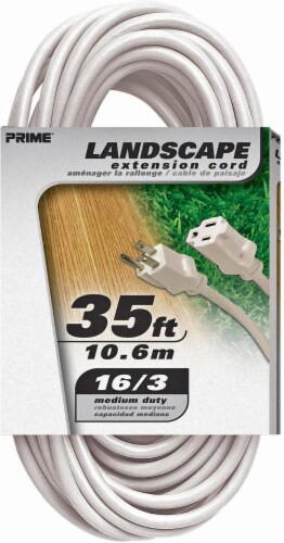 Prime Patio and Deck Outdoor Extension Cord - White Perspective: front