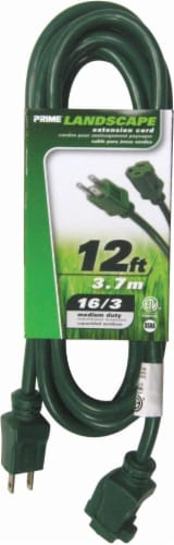 Prime Lawn & Garden Outdoor Extension Cord - SJTW 16/3 - Green Perspective: front