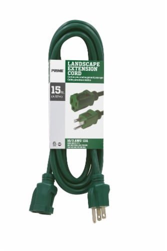 Prime 16/3 Landscape Outdoor Extension Cord - Green Perspective: front