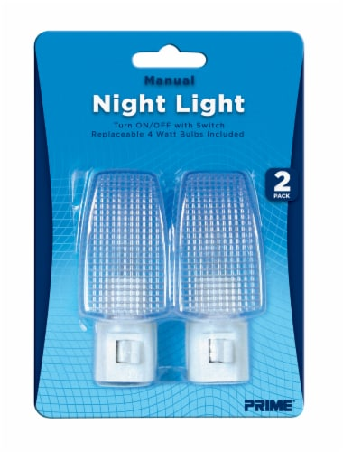 Prime Manual Night Light 2 Pack - White Perspective: front