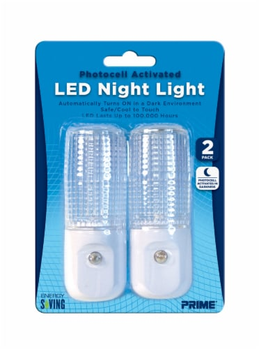 Prime Automatic LED Night Light 2 Pack - White Perspective: front