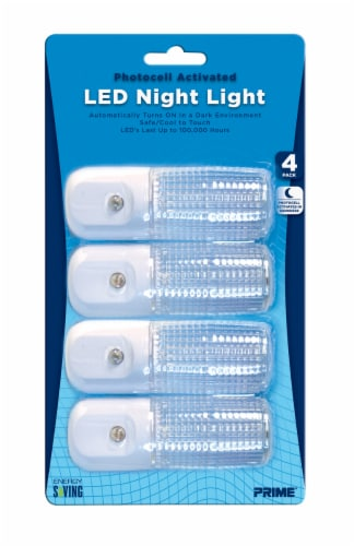 Prime Automatic LED Night Light 4 Pack - White Perspective: front