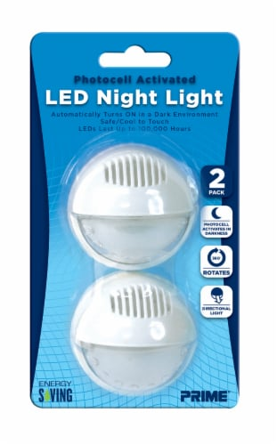 Prime Photocell Activated LED Night Light - White Perspective: front