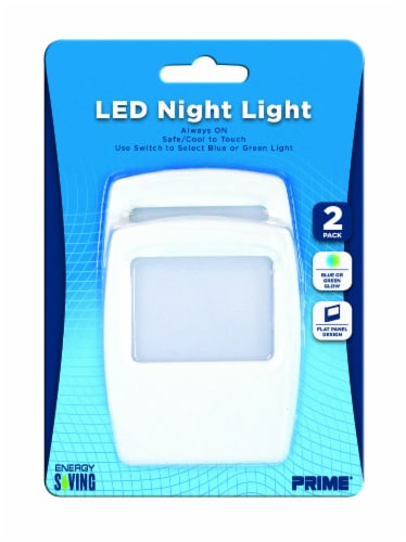 Prime Flate Panel LED Night Light - White Perspective: front