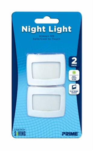 Prime Flat Panel EL Lamp Night Light - White Perspective: front