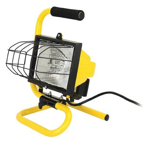 Prime 500 Watt Portable Halogen Worklight - Yellow/Black Perspective: front