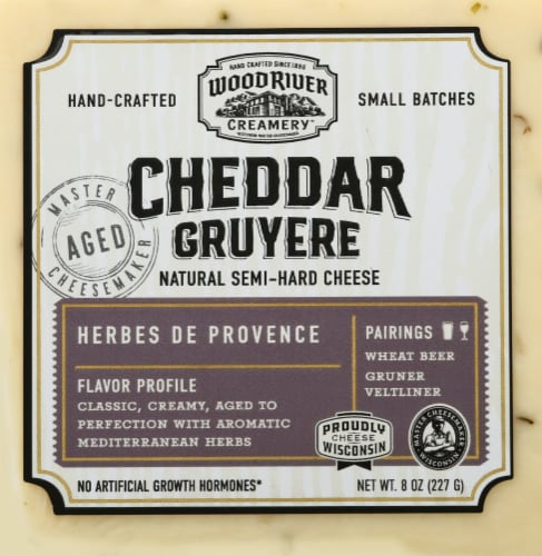 Burnett Dairy Alpha Morning Herb De Provence Cheddar Cheese Perspective: front