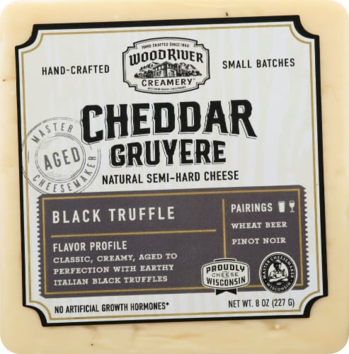 Burnett Dairy Black Truffle Cheddar Cheese Perspective: front