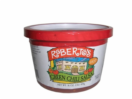 Roberto's Green Chili Salsa Hot Perspective: front