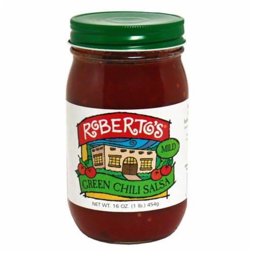 Roberto's Mild Green Chile Salsa Perspective: front