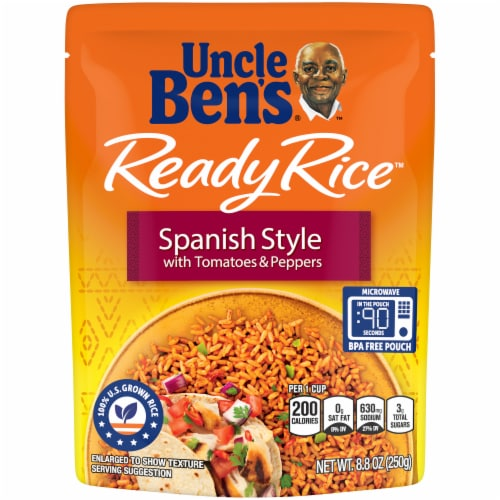 Uncle Ben's Ready Rice Spanish Style with Tomatoes & Peppers Rice Perspective: front