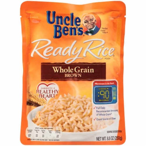 Uncle Ben's Ready Rice Whole Grain Brown Rice Perspective: front